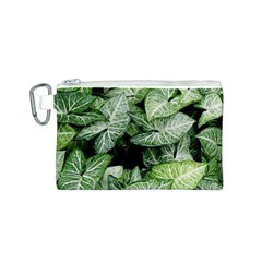 Green Leaves Nature Pattern Plant Canvas Cosmetic Bag (s)