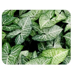 Green Leaves Nature Pattern Plant Double Sided Flano Blanket (medium)