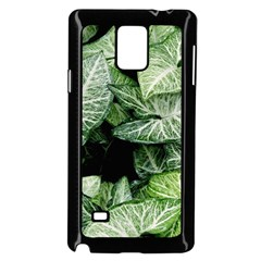 Green Leaves Nature Pattern Plant Samsung Galaxy Note 4 Case (Black)