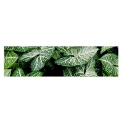 Green Leaves Nature Pattern Plant Satin Scarf (Oblong)