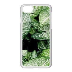 Green Leaves Nature Pattern Plant Apple Iphone 7 Seamless Case (white)