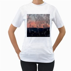 Hardest Frost Winter Cold Frozen Women s T-Shirt (White) (Two Sided)
