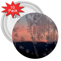 Hardest Frost Winter Cold Frozen 3  Buttons (10 Pack)