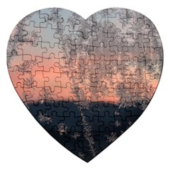 Hardest Frost Winter Cold Frozen Jigsaw Puzzle (heart)