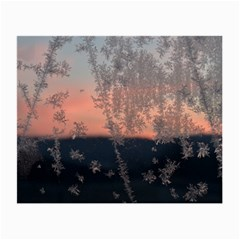 Hardest Frost Winter Cold Frozen Small Glasses Cloth