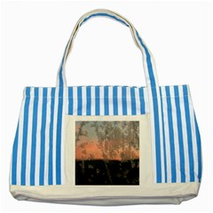 Hardest Frost Winter Cold Frozen Striped Blue Tote Bag