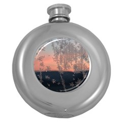 Hardest Frost Winter Cold Frozen Round Hip Flask (5 Oz)