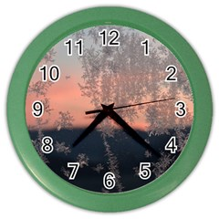Hardest Frost Winter Cold Frozen Color Wall Clocks