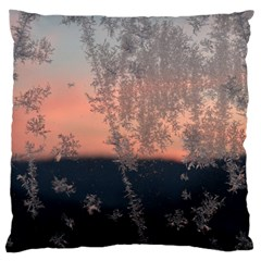 Hardest Frost Winter Cold Frozen Large Cushion Case (one Side)