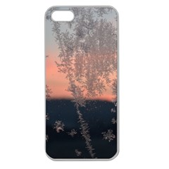 Hardest Frost Winter Cold Frozen Apple Seamless Iphone 5 Case (clear)