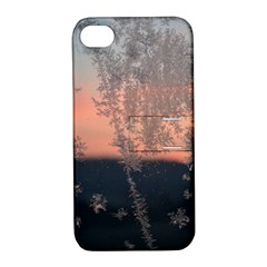 Hardest Frost Winter Cold Frozen Apple Iphone 4/4s Hardshell Case With Stand