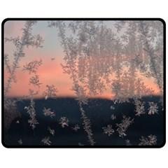 Hardest Frost Winter Cold Frozen Double Sided Fleece Blanket (medium)