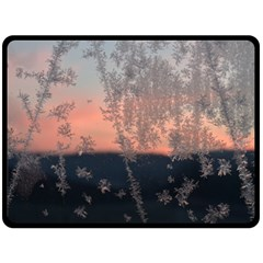 Hardest Frost Winter Cold Frozen Double Sided Fleece Blanket (large)