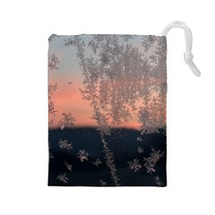 Hardest Frost Winter Cold Frozen Drawstring Pouches (large)