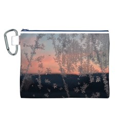 Hardest Frost Winter Cold Frozen Canvas Cosmetic Bag (l)