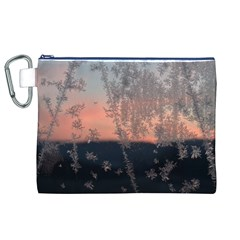 Hardest Frost Winter Cold Frozen Canvas Cosmetic Bag (xl)