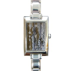 Grunge Rust Old Wall Metal Texture Rectangle Italian Charm Watch