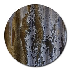 Grunge Rust Old Wall Metal Texture Round Mousepads