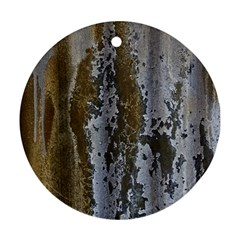 Grunge Rust Old Wall Metal Texture Ornament (Round)
