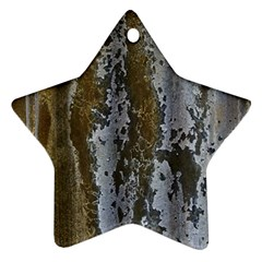 Grunge Rust Old Wall Metal Texture Ornament (star)