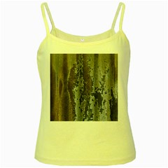 Grunge Rust Old Wall Metal Texture Yellow Spaghetti Tank