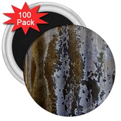 Grunge Rust Old Wall Metal Texture 3  Magnets (100 Pack)