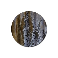 Grunge Rust Old Wall Metal Texture Rubber Round Coaster (4 Pack)