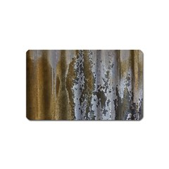 Grunge Rust Old Wall Metal Texture Magnet (name Card)