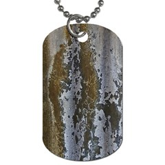 Grunge Rust Old Wall Metal Texture Dog Tag (one Side)