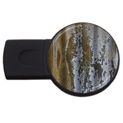 Grunge Rust Old Wall Metal Texture Usb Flash Drive Round (2 Gb)