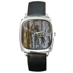 Grunge Rust Old Wall Metal Texture Square Metal Watch