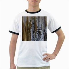 Grunge Rust Old Wall Metal Texture Ringer T Shirts