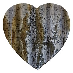 Grunge Rust Old Wall Metal Texture Jigsaw Puzzle (heart)