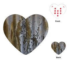 Grunge Rust Old Wall Metal Texture Playing Cards (heart)