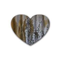 Grunge Rust Old Wall Metal Texture Heart Coaster (4 Pack)