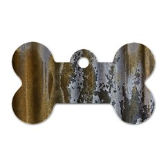 Grunge Rust Old Wall Metal Texture Dog Tag Bone (two Sides)