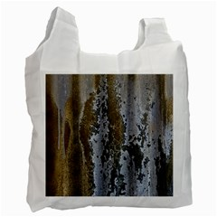 Grunge Rust Old Wall Metal Texture Recycle Bag (two Side)