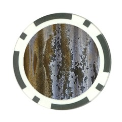 Grunge Rust Old Wall Metal Texture Poker Chip Card Guard (10 Pack)