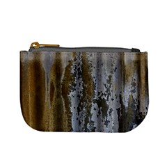 Grunge Rust Old Wall Metal Texture Mini Coin Purses