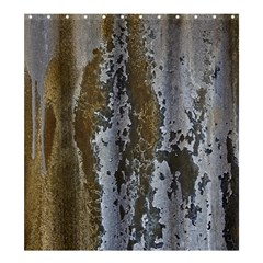 Grunge Rust Old Wall Metal Texture Shower Curtain 66  X 72  (large)