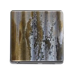 Grunge Rust Old Wall Metal Texture Memory Card Reader (Square)