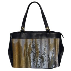 Grunge Rust Old Wall Metal Texture Office Handbags (2 Sides)