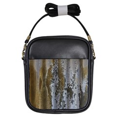 Grunge Rust Old Wall Metal Texture Girls Sling Bags