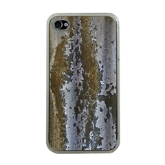 Grunge Rust Old Wall Metal Texture Apple Iphone 4 Case (clear)