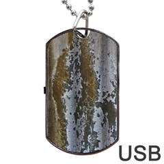 Grunge Rust Old Wall Metal Texture Dog Tag Usb Flash (two Sides)