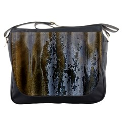 Grunge Rust Old Wall Metal Texture Messenger Bags