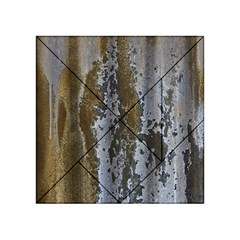 Grunge Rust Old Wall Metal Texture Acrylic Tangram Puzzle (4  X 4 )