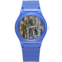 Grunge Rust Old Wall Metal Texture Round Plastic Sport Watch (s)