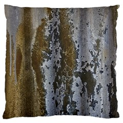Grunge Rust Old Wall Metal Texture Large Cushion Case (One Side)