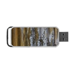 Grunge Rust Old Wall Metal Texture Portable Usb Flash (two Sides)